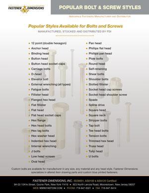 Popular Bolt Styles